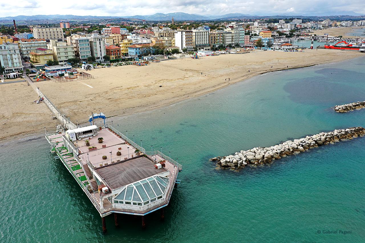 foto da drone, Adriatico, i colori del mare, Gabicce