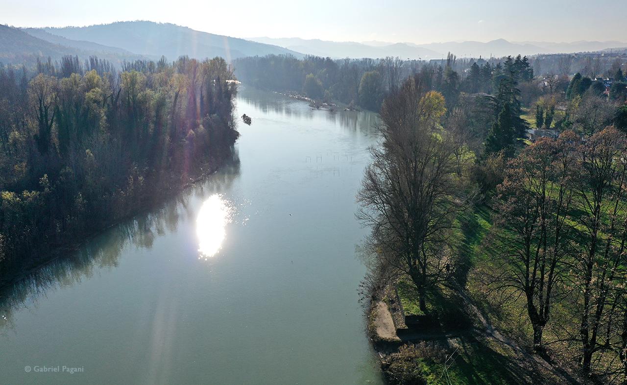 Casalecchio di Reno, Chiusa di Casalecchio, fiume reno, foto da drone